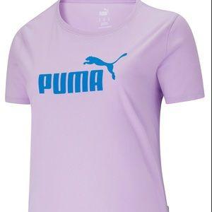 Puma women plus logo  short sleeves tee